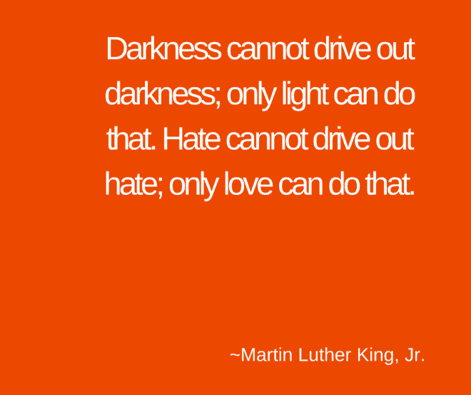 Quote from Martin Luther King Jr about Love - Intergration