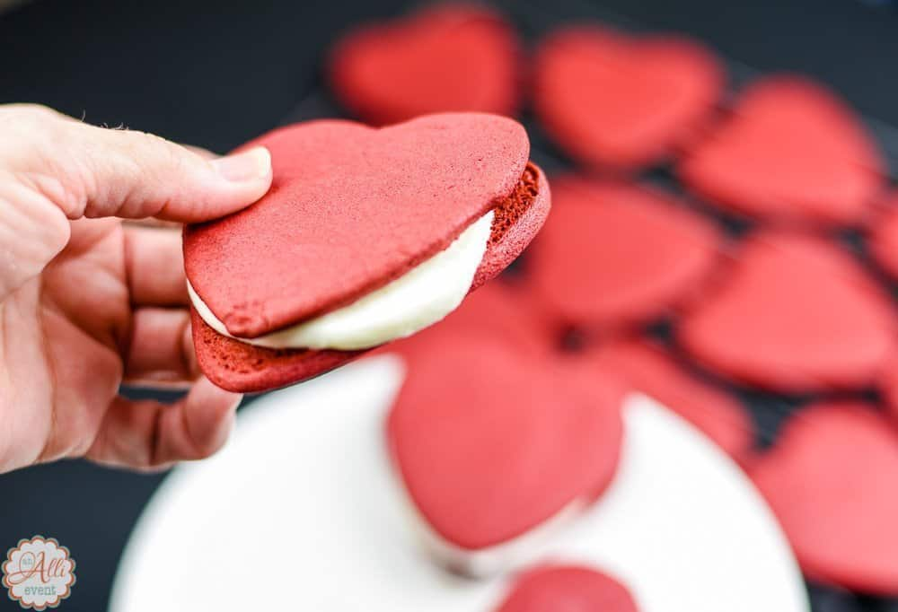 how to make easy red velvet heart shaped cookies   an alli