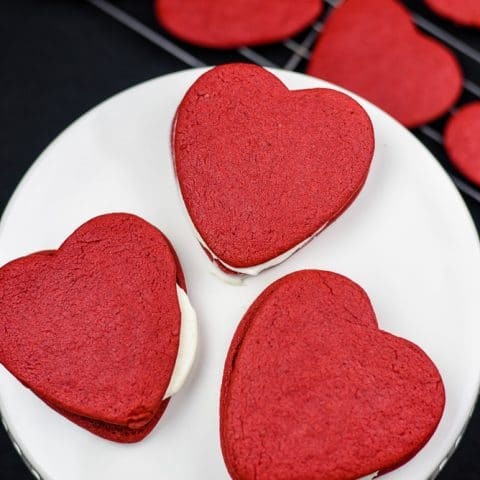 How to Make Easy Red Velvet Heart Shaped Cookies