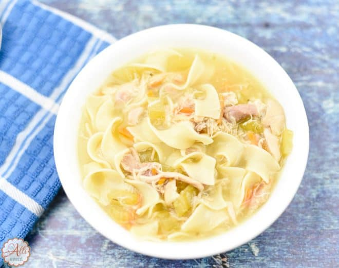 Homemade Slow Cooker Chicken Noodle Soup