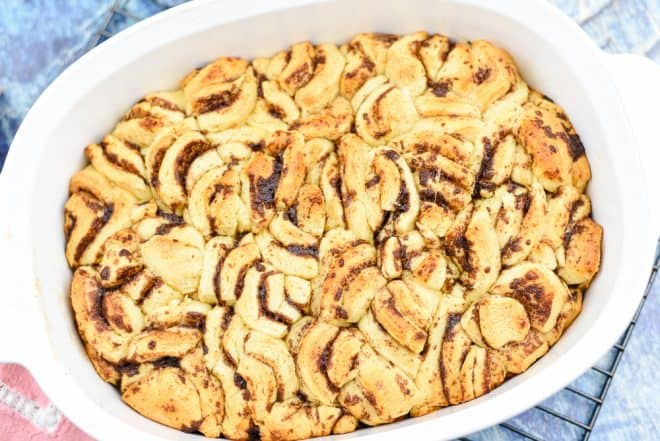 Baking - Lemon Blueberry Cinnamon Roll Bake