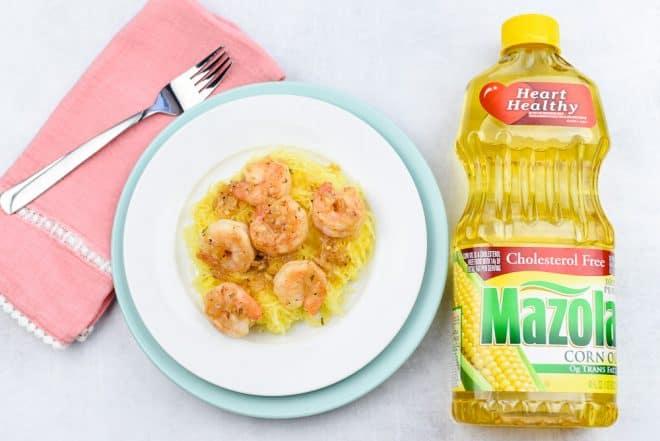 Serve Shrimp Scampi over Spaghetti Squash