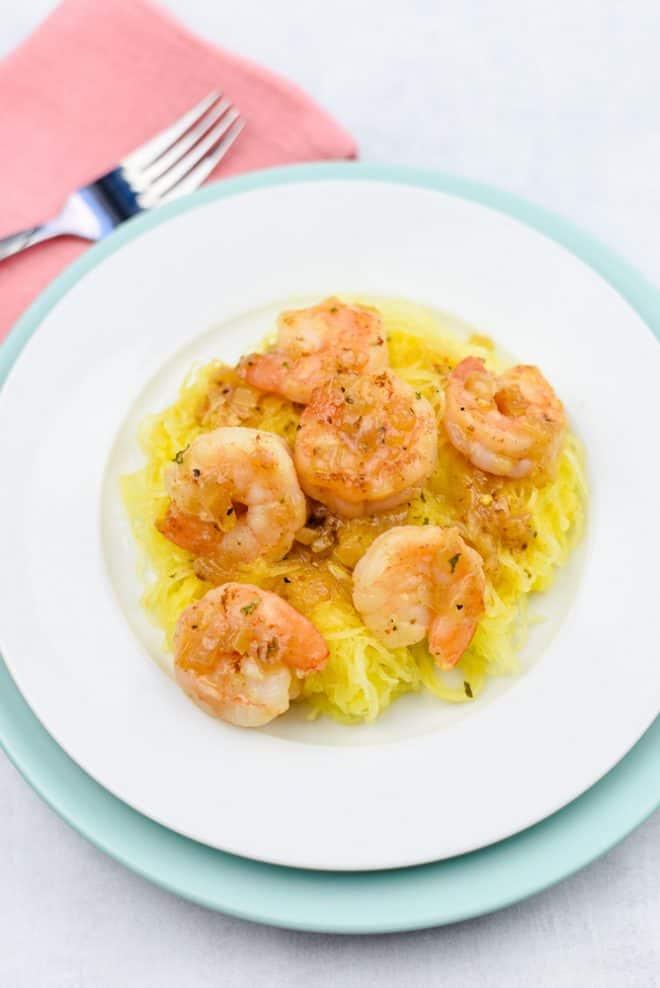 Lightened Up Shrimp Scampi