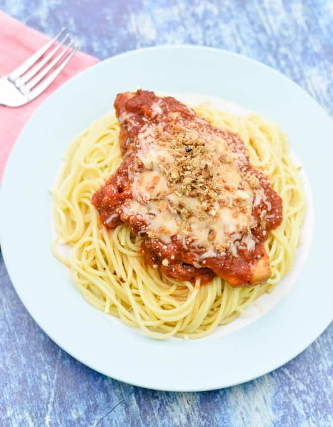Simple Slow Cooker Chicken Parmesan