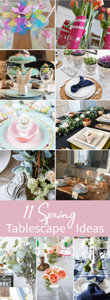 Easy Pastel Spring Tablescape Ideas