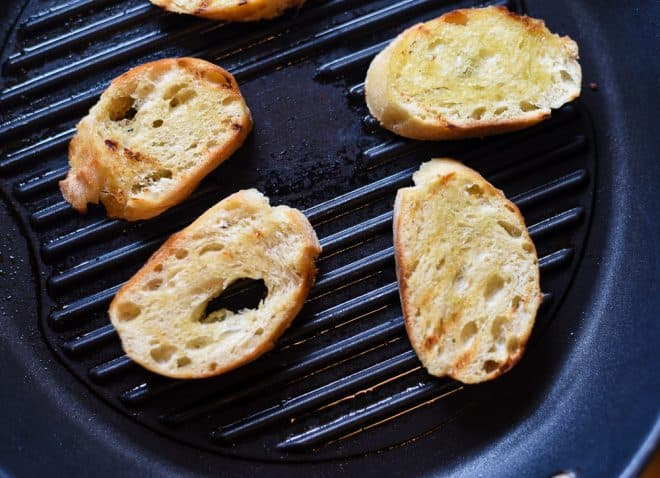 Grilled Baguette for Grilled Pear Crostini