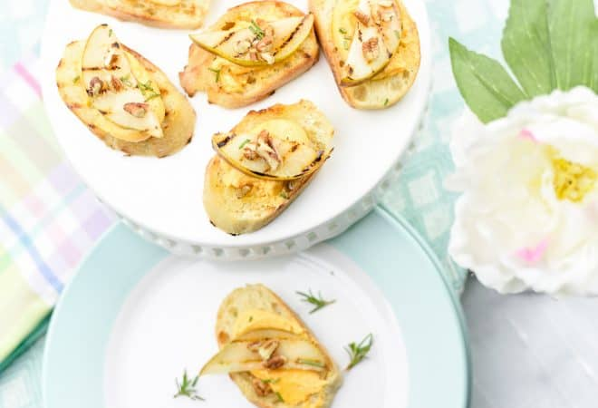 Grilled Pear Crostini