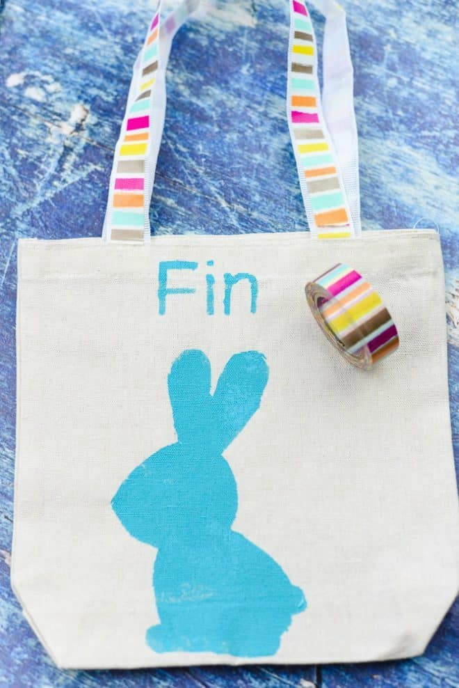 Easy DIY Personalized Easter Bag