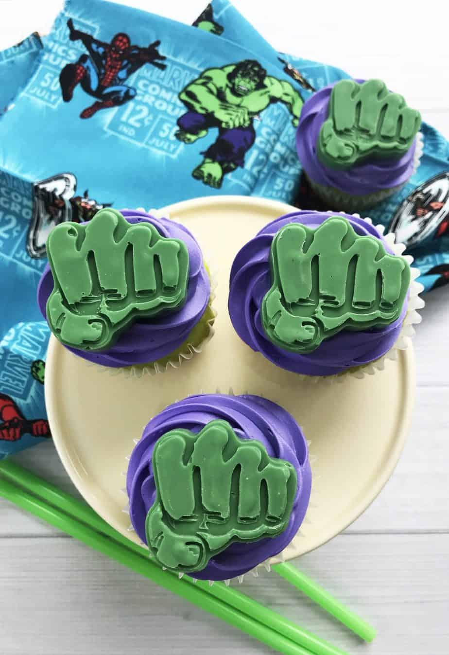 How To Make Adorable Incredible Hulk Cupcakes An Alli Event