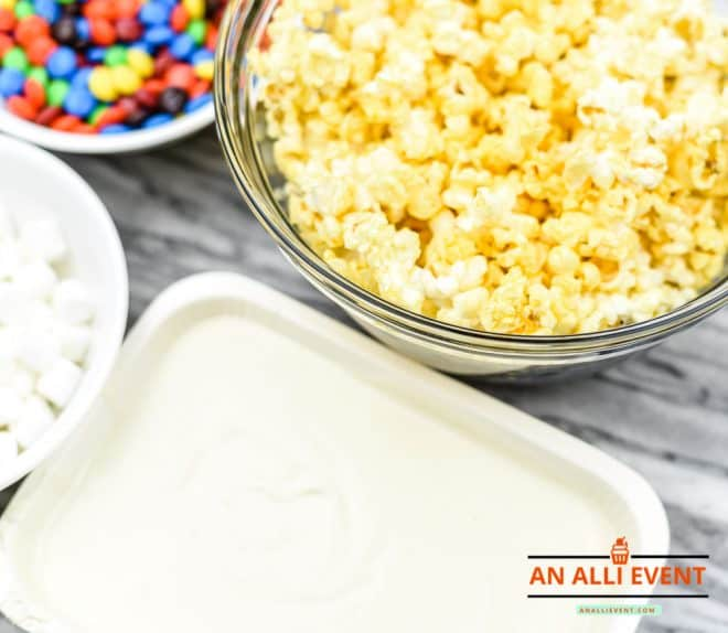 Melt Chocolate for Bunny Tail Popcorn