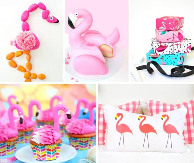 DIY Flamingo Inspired Crafts and Recipes Roundup