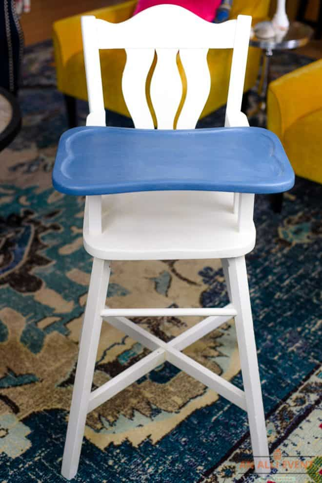 High Chair Makeover - After