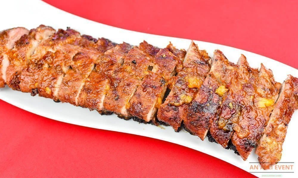 Peach Chipotle Grilled Ribs