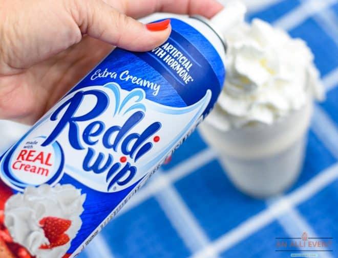 Add whipped cream - Toasted Marshmallow Mocha Milkshake