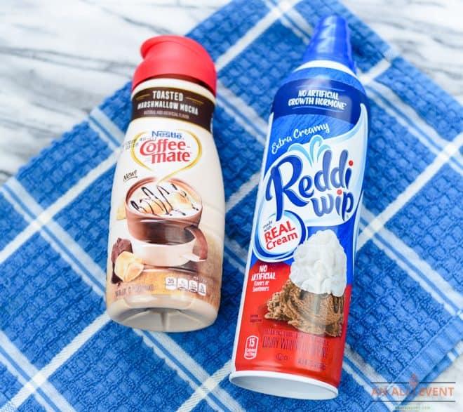 Products Used To Make Toasted Marshmallow Mocha Milkshake