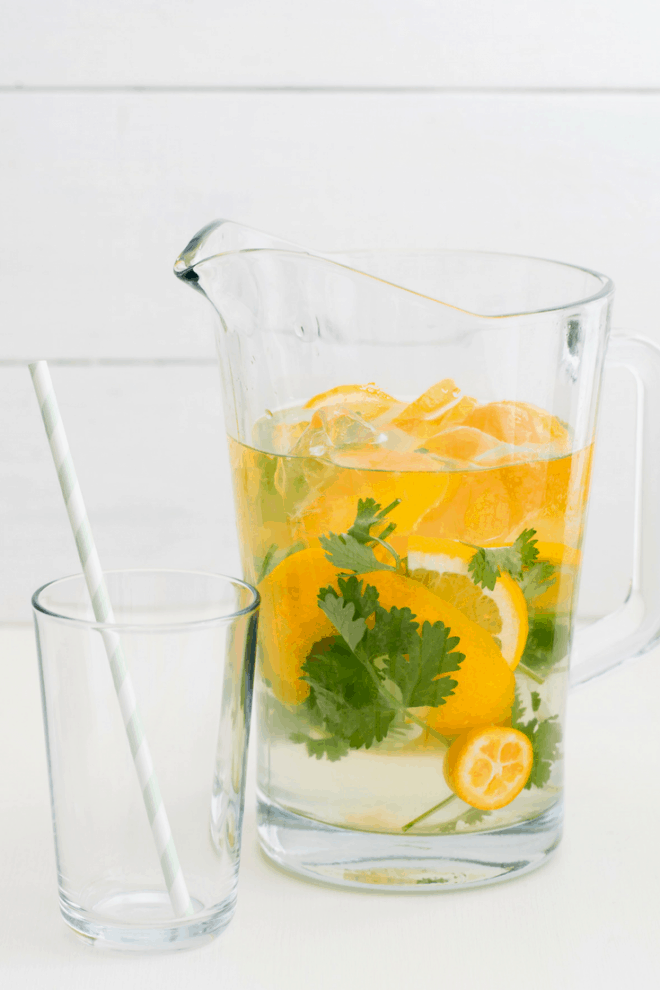 Citrus Cilantro Water - Infused Water Combinations