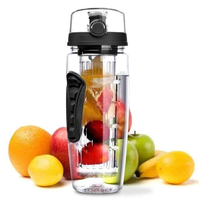 infused water combinations and water bottles