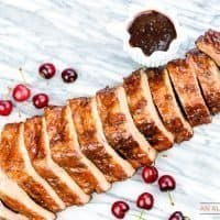 Cherry-Apple Glazed Grilled Ribs