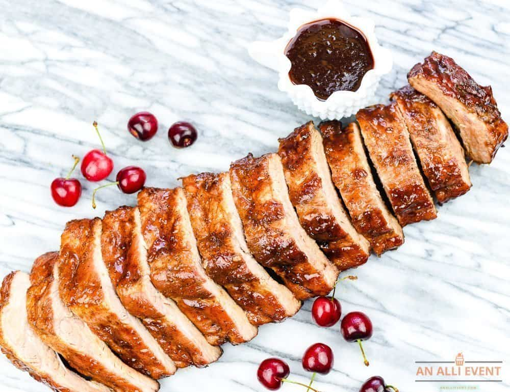 Cherry-Apple Glazed Grilled Ribs for Labor Day