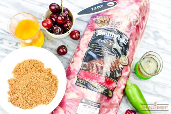 Ingredients for Cherry-Apple Glazed Grilled Ribs