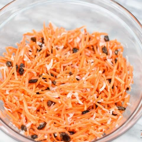 Coconut Carrot Salad is so easy to put together