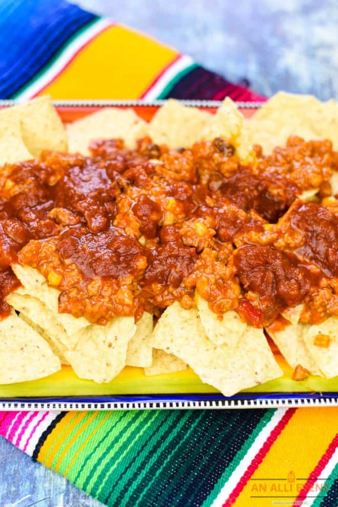 Layer Chips and Pace Complete to make Loaded Nachos