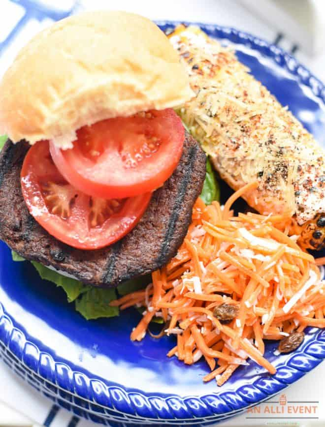 Meatless Monday featuring MorningStar Farms, Coconut Carrot Salad and Mexican Corn