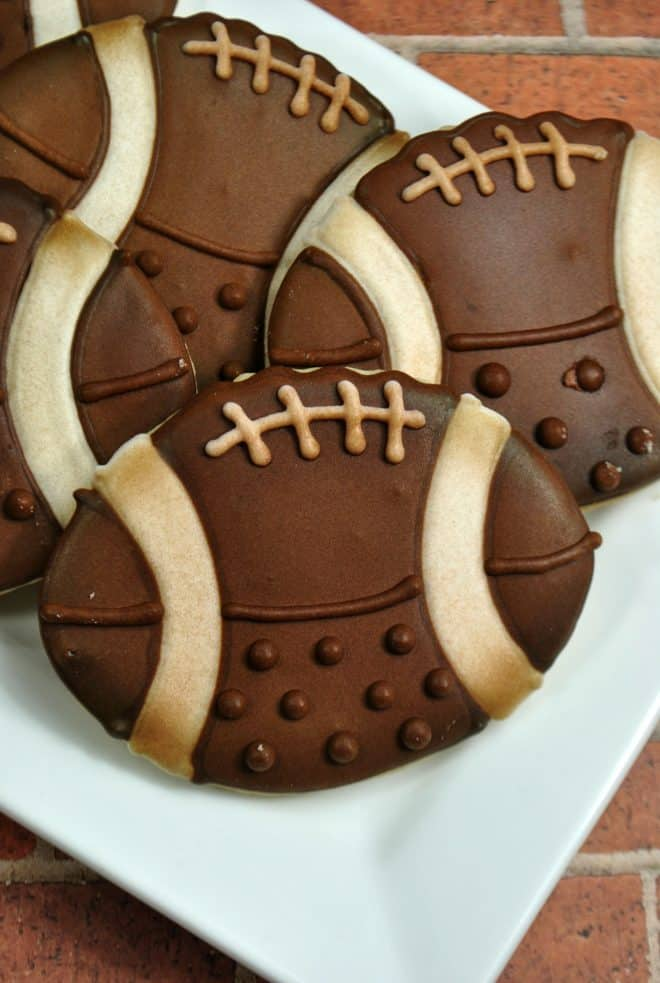 Ready to Eat - Vintage Football Sugar Cookies