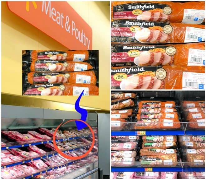 Instore Photo of Smithfield Fresh Marinated Pork Loin - Smoked Bacon Pork Loin