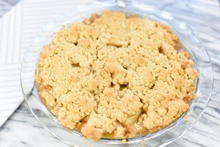 Serve Apple Crumble warm with Vanilla Ice Cream