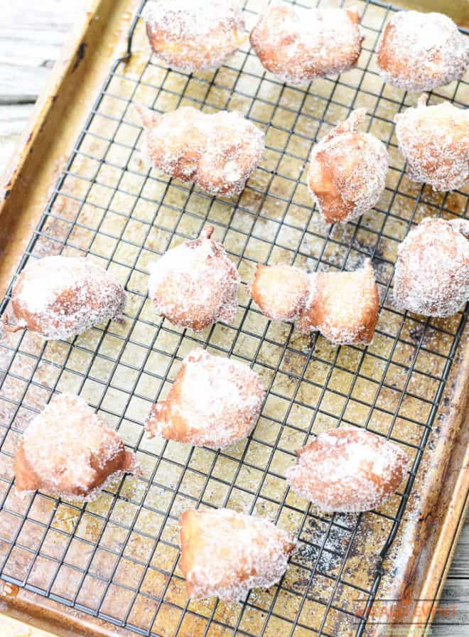 Apple Fritters are Light and Fluffy