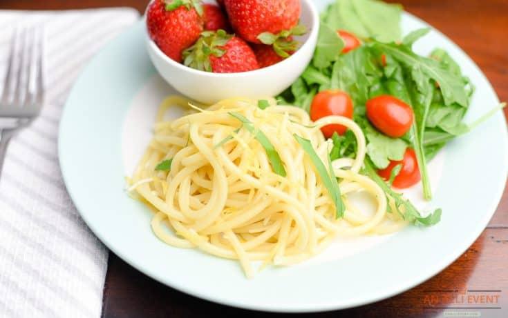 Lemon Bucatini with Basil