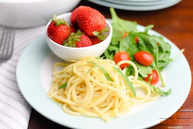 Plated Lemon Bucatini