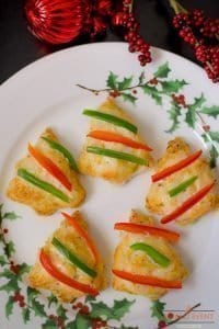 Easy Cheesy Christmas Tree Shaped Appetizers