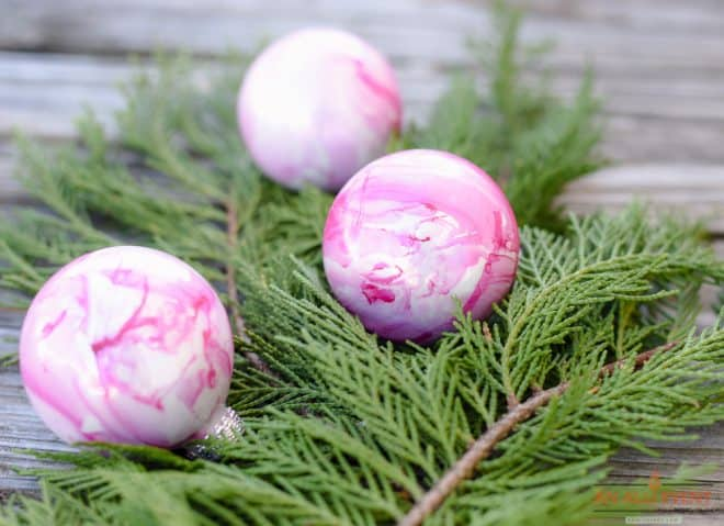DIY Marbled Ornaments for Christmas