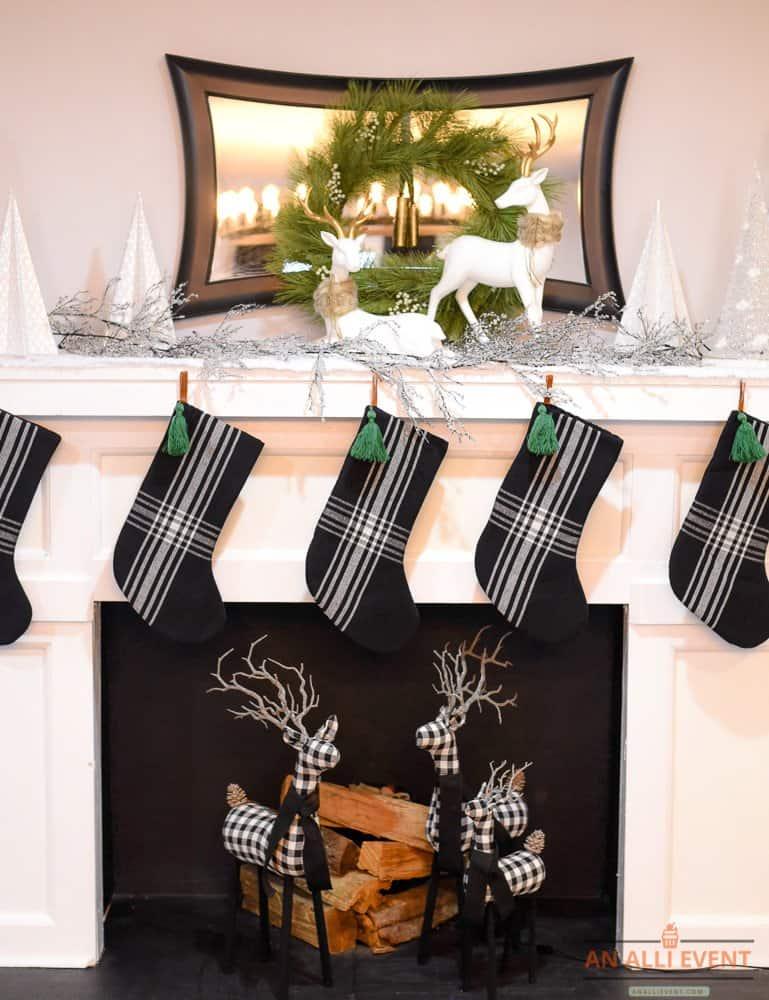 Superb Simple Black And White Christmas Mantel Decor An Alli Event Download Free Architecture Designs Scobabritishbridgeorg