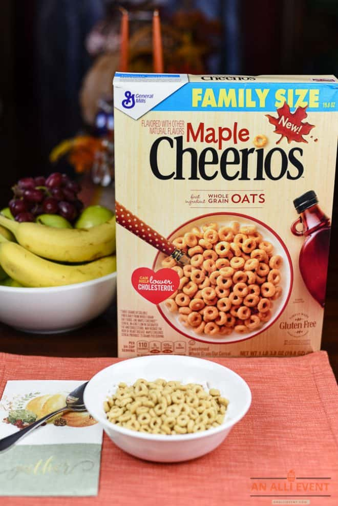 Maple Cheerios and Breakfast Ideas for Overnight Guests