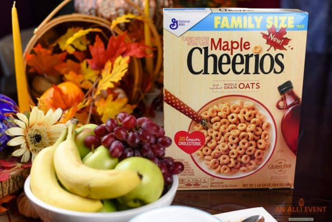 Breakfast Ideas and Maple Cheerios Family Size