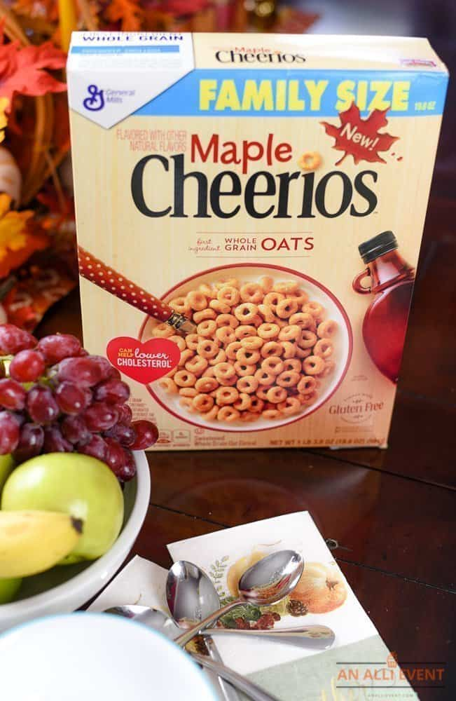 Breakfast Ideas - Maple Cheerios