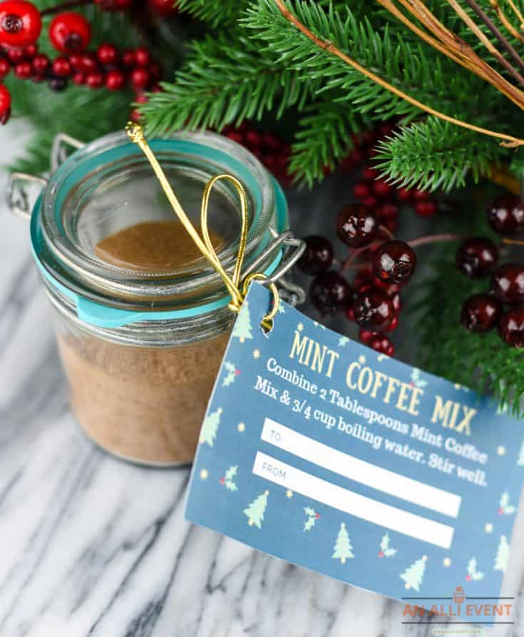 Mint Coffee Mix DIY Christmas Gift