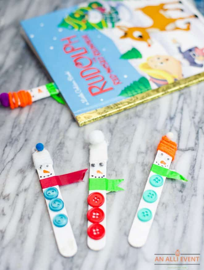 Snowman Bookmark Craft for Kids