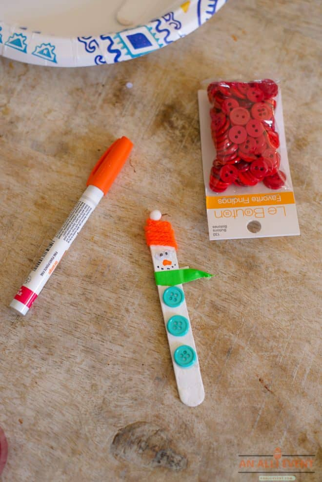 Snowman Bookmark Craft to Make with the Kids