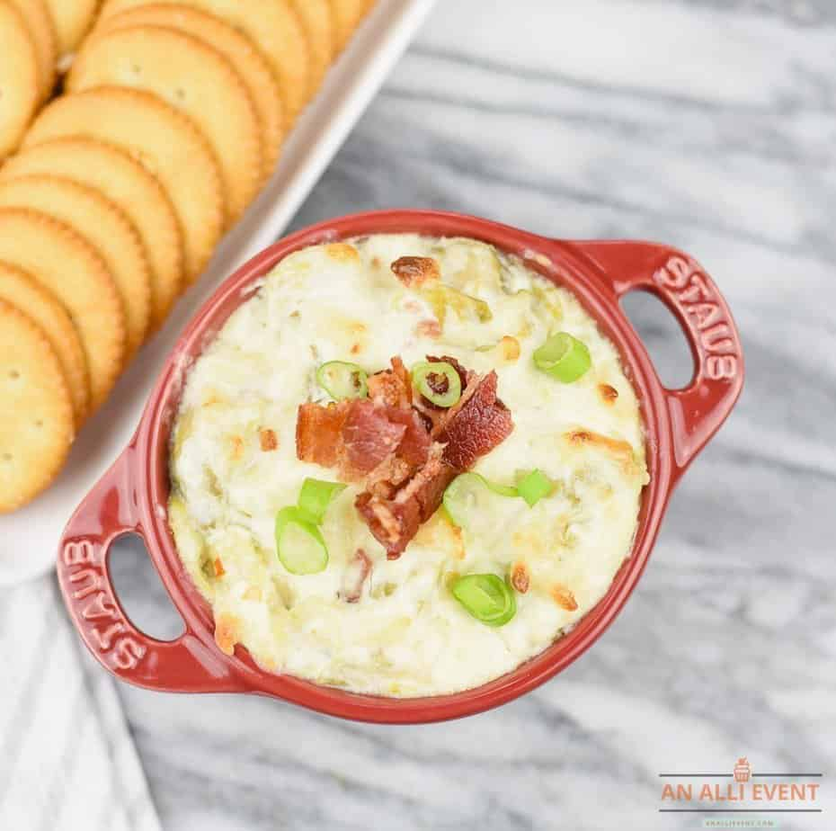 Bacon Topped Cheesy Brussels Sprouts Dip