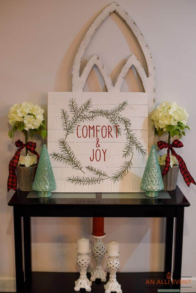 Christmas Mantel Decor Plus Tabletop Decor
