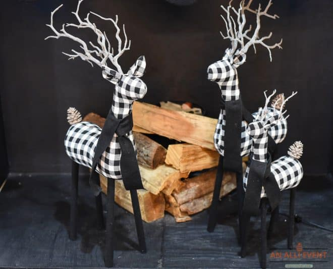 Plaid Deer - Christmas Mantel Decor