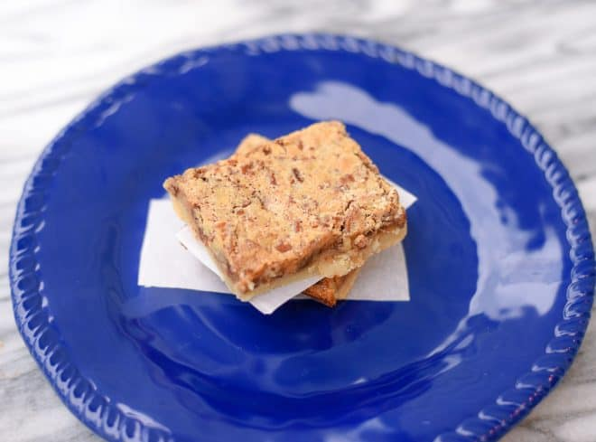 Toffee Pecan Pie Squares Recipe