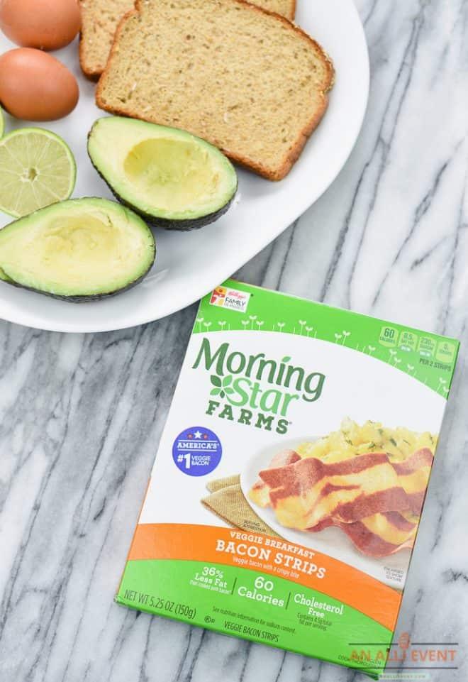 Avocado Toast with MorningStar Farms Bacon Strips