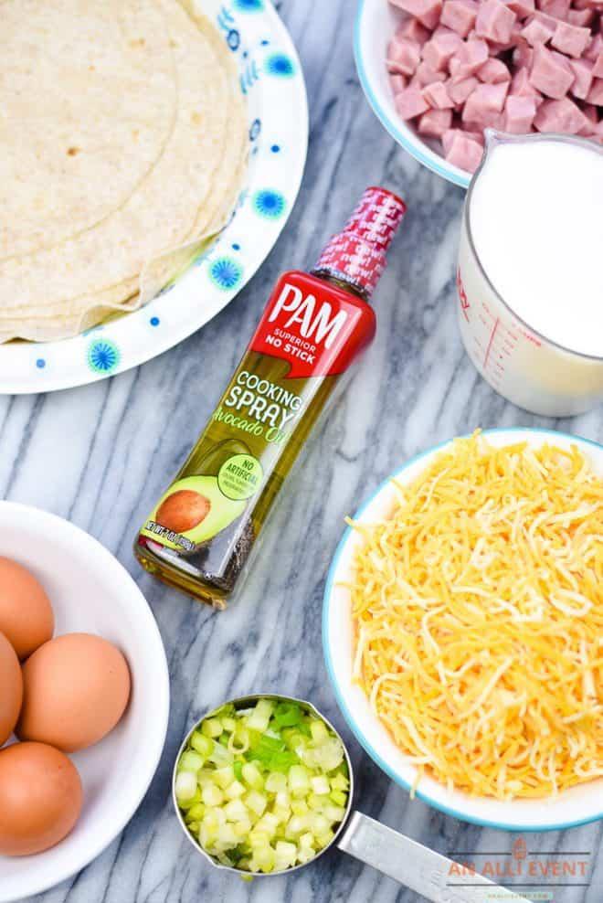 Ingredients to Make Breakfast Enchiladas
