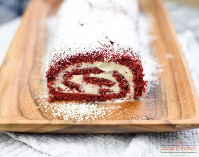Front of Red Velvet Cake Roll