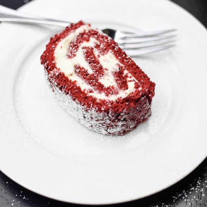 A Slice of Red Velvet Cake Roll